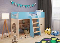 Детская кровать Разноцвет