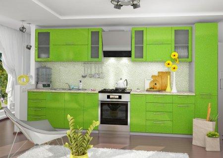 Кухня Глянцевая зеленая