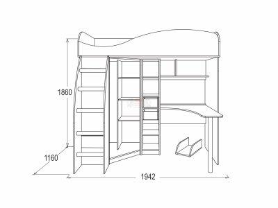 Кровать-чердак Олимп 9